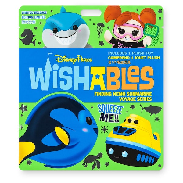 Finding Nemo Submarine Voyage Attraction Series Wishables Mystery Plush