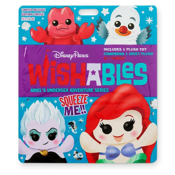Ariel's Undersea Adventure Attraction Series Wishables Mystery Plush