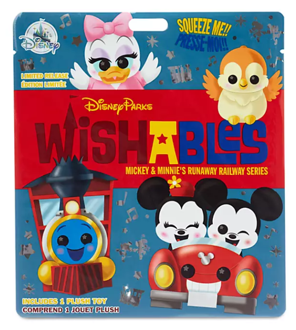 Mickey and Minnie's Runaway Railway Series Mystery Wishables Plush
