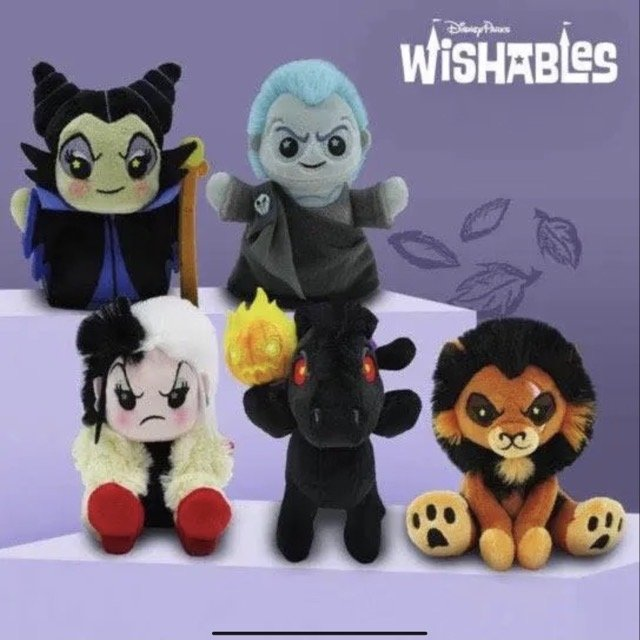 Disney Villains Wishables Plush