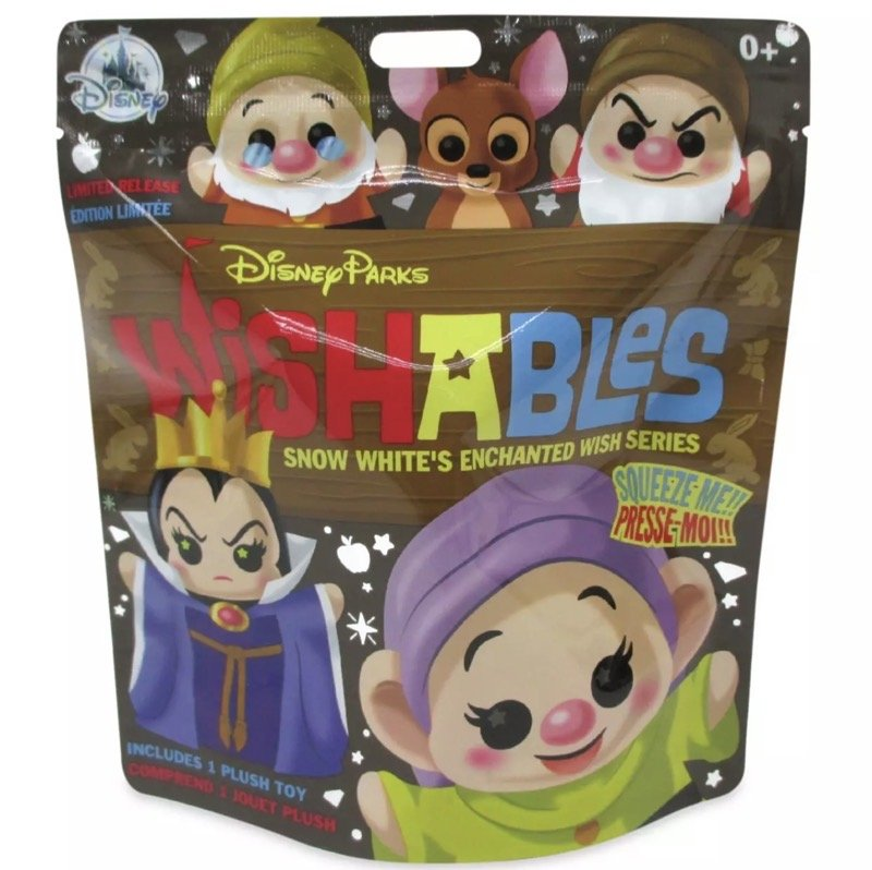 Snow White's Enchanted Wish Series Disney Parks Wishables Plush Bag